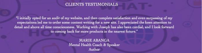 Testimonial Marie Abanga